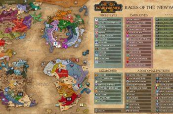 Warhammer 2 – mapa kampanii + frakcje